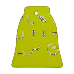 Arrow Line Sign Circle Flat Curve Bell Ornament (two Sides)