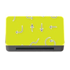 Arrow Line Sign Circle Flat Curve Memory Card Reader With Cf
