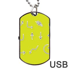 Arrow Line Sign Circle Flat Curve Dog Tag Usb Flash (two Sides)