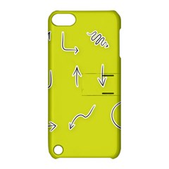 Arrow Line Sign Circle Flat Curve Apple Ipod Touch 5 Hardshell Case With Stand