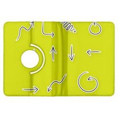 Arrow Line Sign Circle Flat Curve Kindle Fire Hdx Flip 360 Case