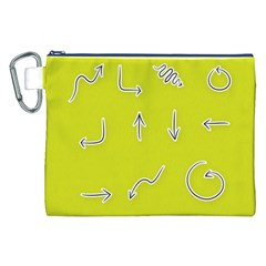 Arrow Line Sign Circle Flat Curve Canvas Cosmetic Bag (xxl)