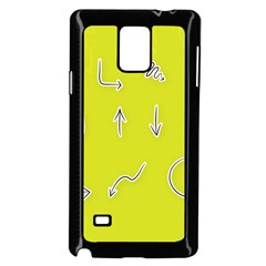 Arrow Line Sign Circle Flat Curve Samsung Galaxy Note 4 Case (black)