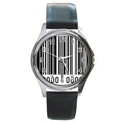 Code Data Digital Register Round Metal Watch