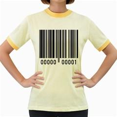 Code Data Digital Register Women s Fitted Ringer T Shirts