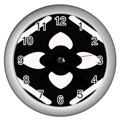 Pattern Background Wall Clocks (Silver)