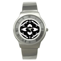 Pattern Background Stainless Steel Watch