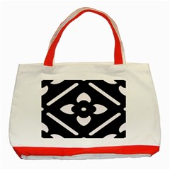 Pattern Background Classic Tote Bag (red)