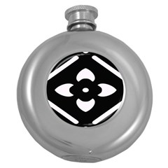 Pattern Background Round Hip Flask (5 Oz)