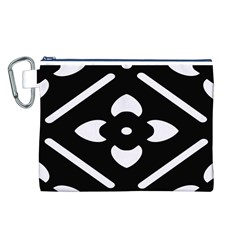 Pattern Background Canvas Cosmetic Bag (l)