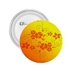 Flowers Floral Design Flora Yellow 2 25  Buttons
