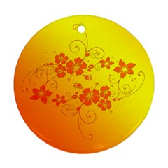 Flowers Floral Design Flora Yellow Ornament (Round)