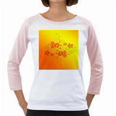 Flowers Floral Design Flora Yellow Girly Raglans