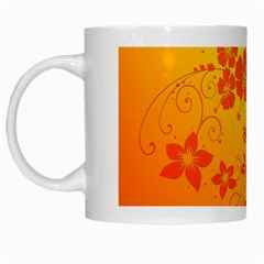 Flowers Floral Design Flora Yellow White Mugs