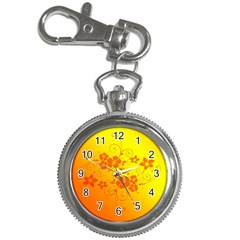 Flowers Floral Design Flora Yellow Key Chain Watches