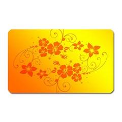 Flowers Floral Design Flora Yellow Magnet (rectangular)