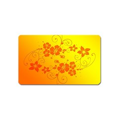 Flowers Floral Design Flora Yellow Magnet (Name Card)