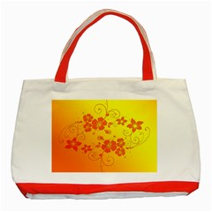 Flowers Floral Design Flora Yellow Classic Tote Bag (red)