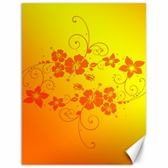 Flowers Floral Design Flora Yellow Canvas 12  X 16