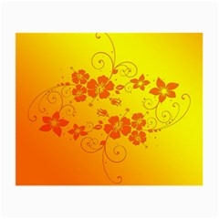 Flowers Floral Design Flora Yellow Small Glasses Cloth (2 Side)