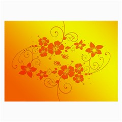 Flowers Floral Design Flora Yellow Large Glasses Cloth