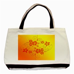 Flowers Floral Design Flora Yellow Basic Tote Bag (two Sides)