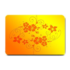 Flowers Floral Design Flora Yellow Small Doormat
