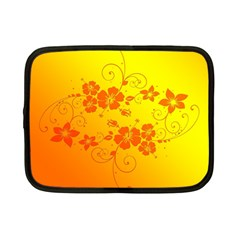 Flowers Floral Design Flora Yellow Netbook Case (small)