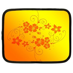 Flowers Floral Design Flora Yellow Netbook Case (Large)