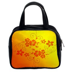 Flowers Floral Design Flora Yellow Classic Handbags (2 Sides)