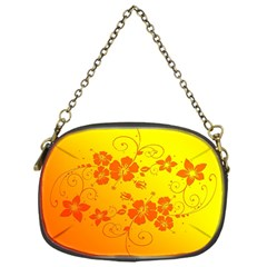 Flowers Floral Design Flora Yellow Chain Purses (one Side)