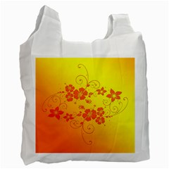 Flowers Floral Design Flora Yellow Recycle Bag (two Side)