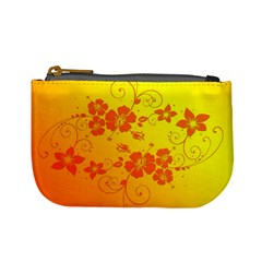 Flowers Floral Design Flora Yellow Mini Coin Purses