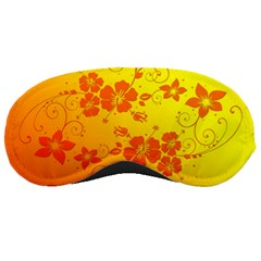 Flowers Floral Design Flora Yellow Sleeping Masks