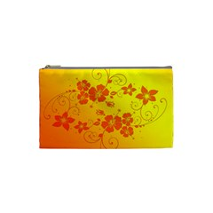 Flowers Floral Design Flora Yellow Cosmetic Bag (small)