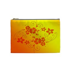 Flowers Floral Design Flora Yellow Cosmetic Bag (medium)