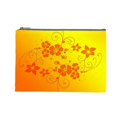 Flowers Floral Design Flora Yellow Cosmetic Bag (large)