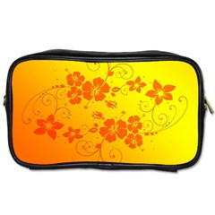 Flowers Floral Design Flora Yellow Toiletries Bags 2-Side