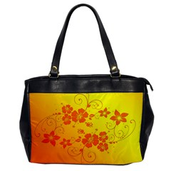 Flowers Floral Design Flora Yellow Office Handbags