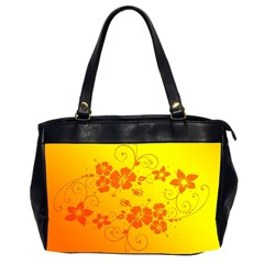 Flowers Floral Design Flora Yellow Office Handbags (2 Sides)