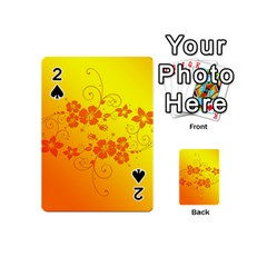 Flowers Floral Design Flora Yellow Playing Cards 54 (Mini)