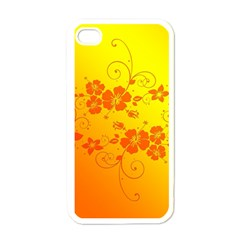 Flowers Floral Design Flora Yellow Apple Iphone 4 Case (white)