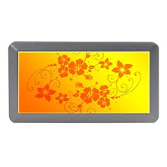 Flowers Floral Design Flora Yellow Memory Card Reader (Mini)