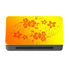 Flowers Floral Design Flora Yellow Memory Card Reader With Cf