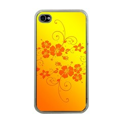 Flowers Floral Design Flora Yellow Apple Iphone 4 Case (clear)