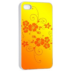 Flowers Floral Design Flora Yellow Apple Iphone 4/4s Seamless Case (white)