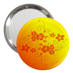 Flowers Floral Design Flora Yellow 3  Handbag Mirrors