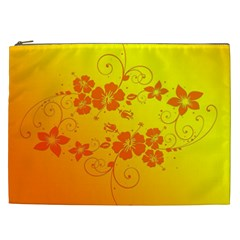 Flowers Floral Design Flora Yellow Cosmetic Bag (xxl)