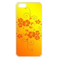 Flowers Floral Design Flora Yellow Apple Iphone 5 Seamless Case (white)
