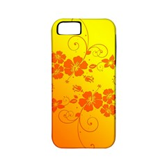 Flowers Floral Design Flora Yellow Apple Iphone 5 Classic Hardshell Case (pc+silicone)
